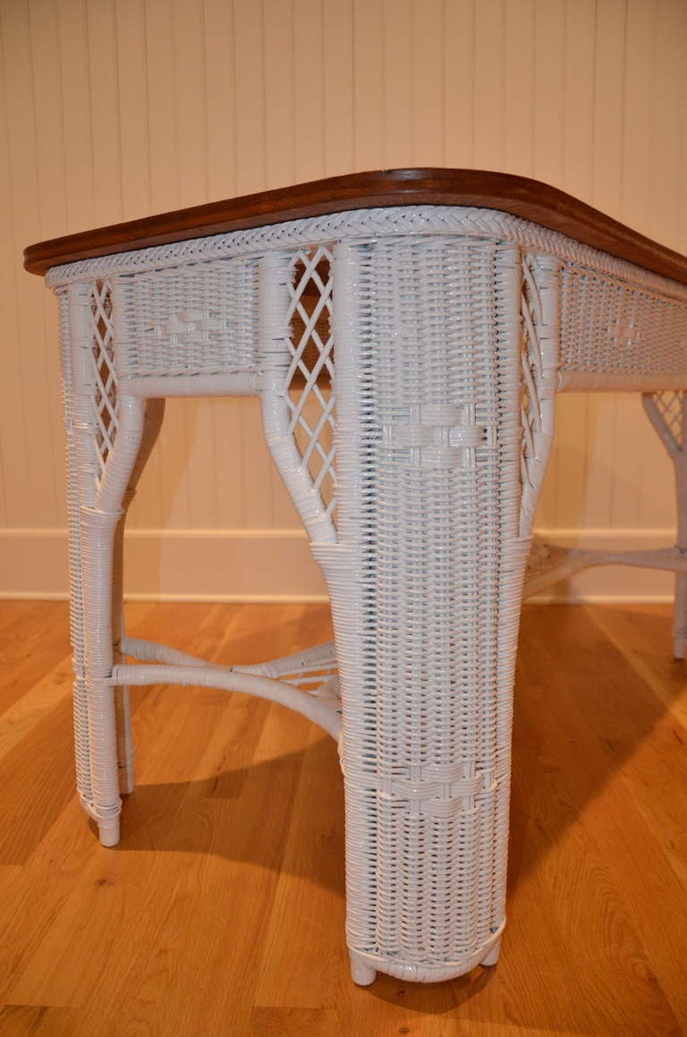 Metal Antique Wicker Table For Sale