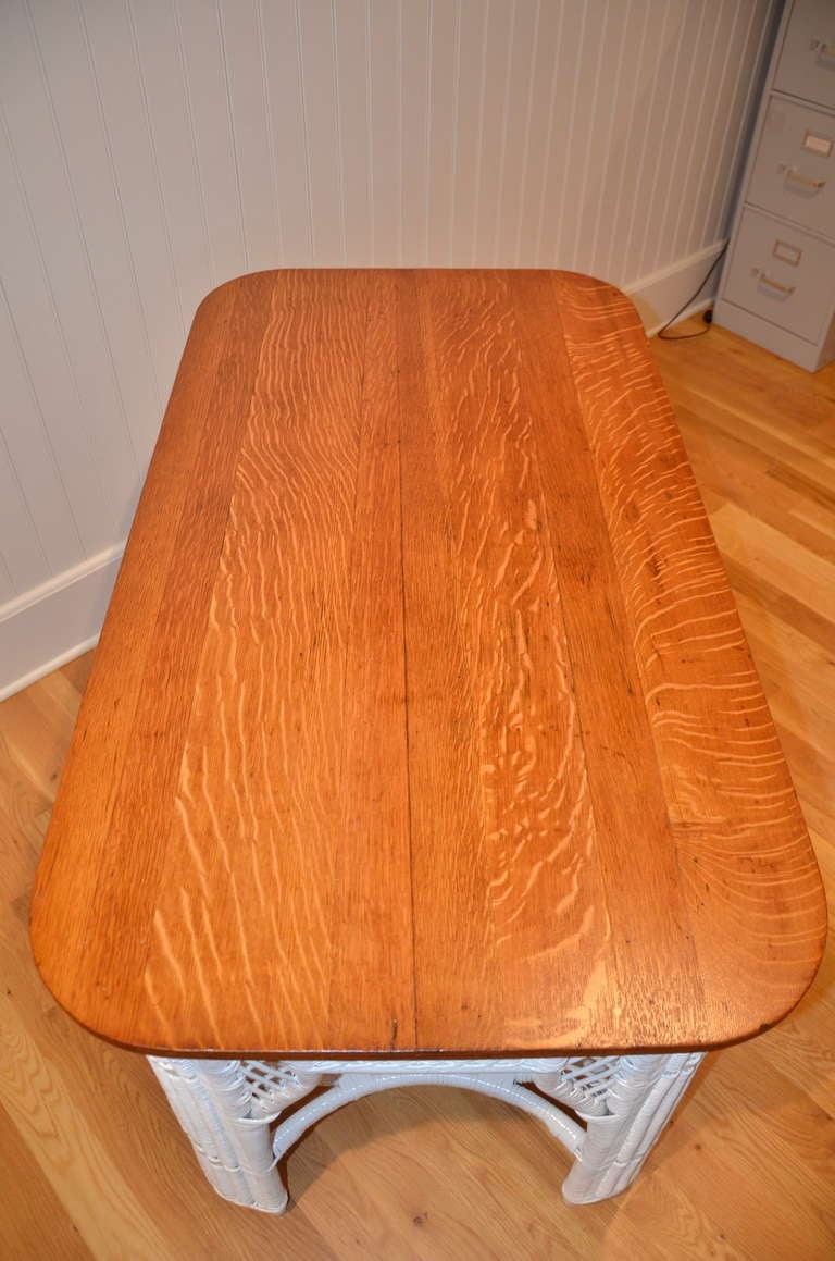 20th Century Antique Wicker Table For Sale