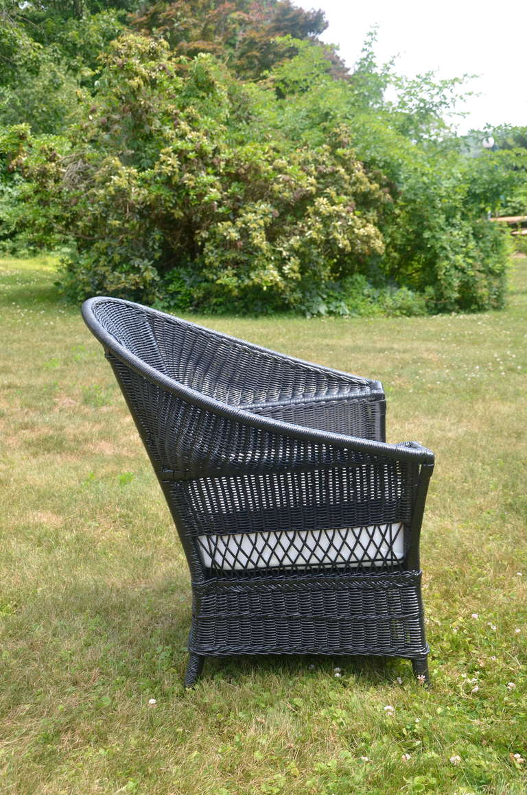 antique wicker sofa and chair at 1stdibs. Black Bedroom Furniture Sets. Home Design Ideas