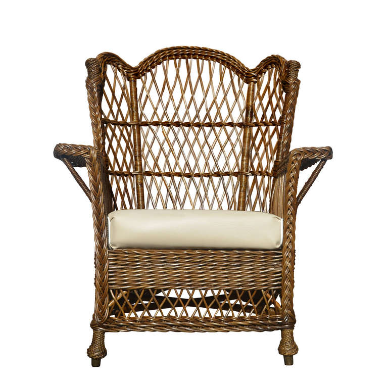 Antique Wicker Arm Chair at 1stdibs