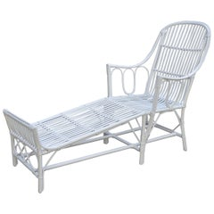 Heywood Wakefield Stick Wicker Chaise
