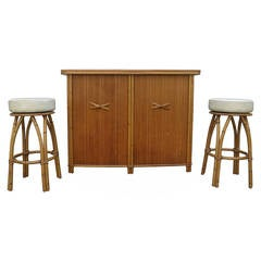 Mid-Century Heywood Wakefield Bar and Stools