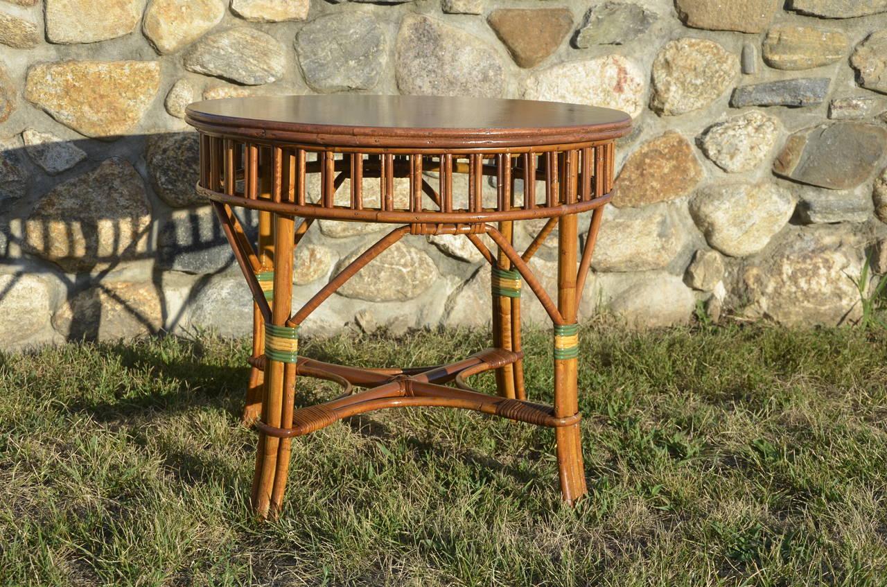 Antique stick rattan set for sale at 1stdibs - Rattan living room furniture for sale ...