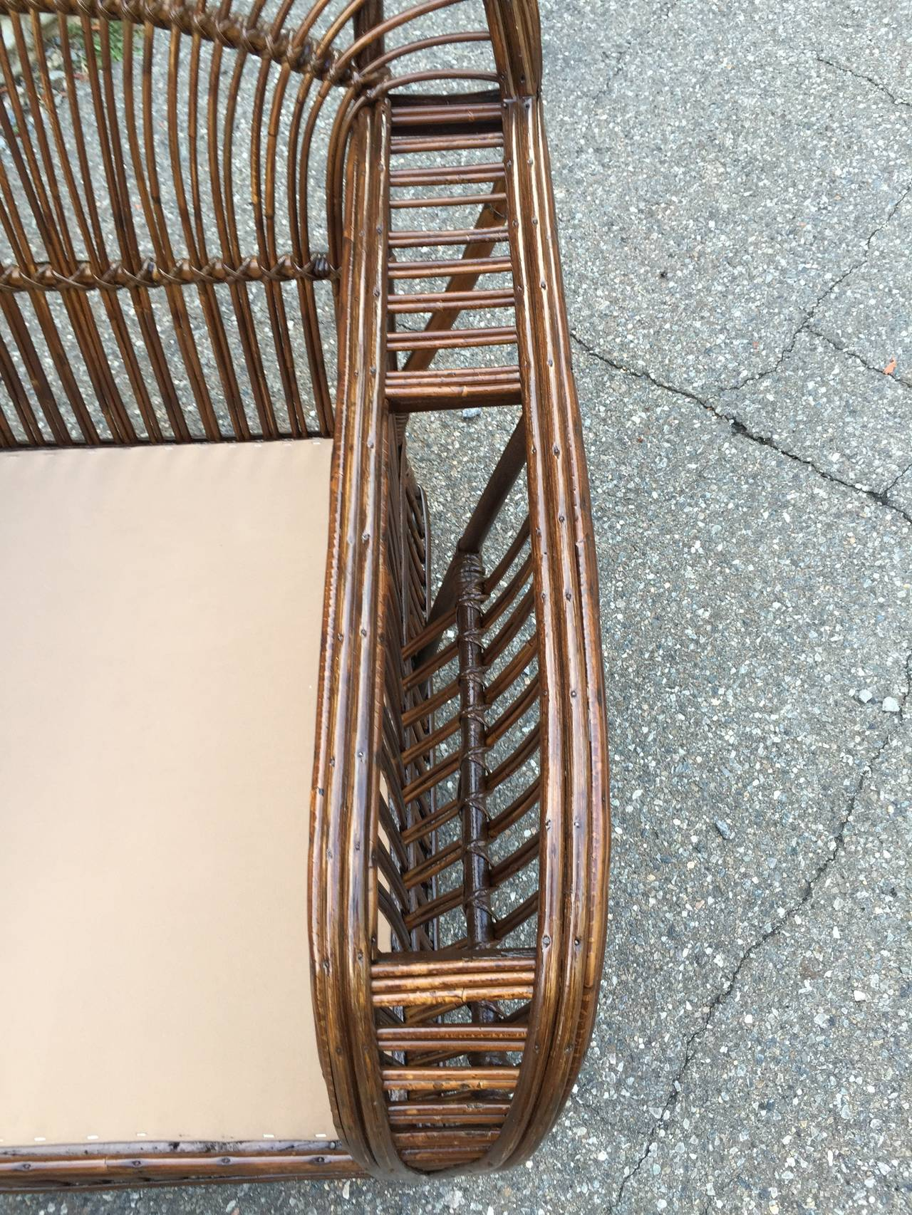 Antique Stick Wicker Lounge Chairs For Sale at 1stdibs