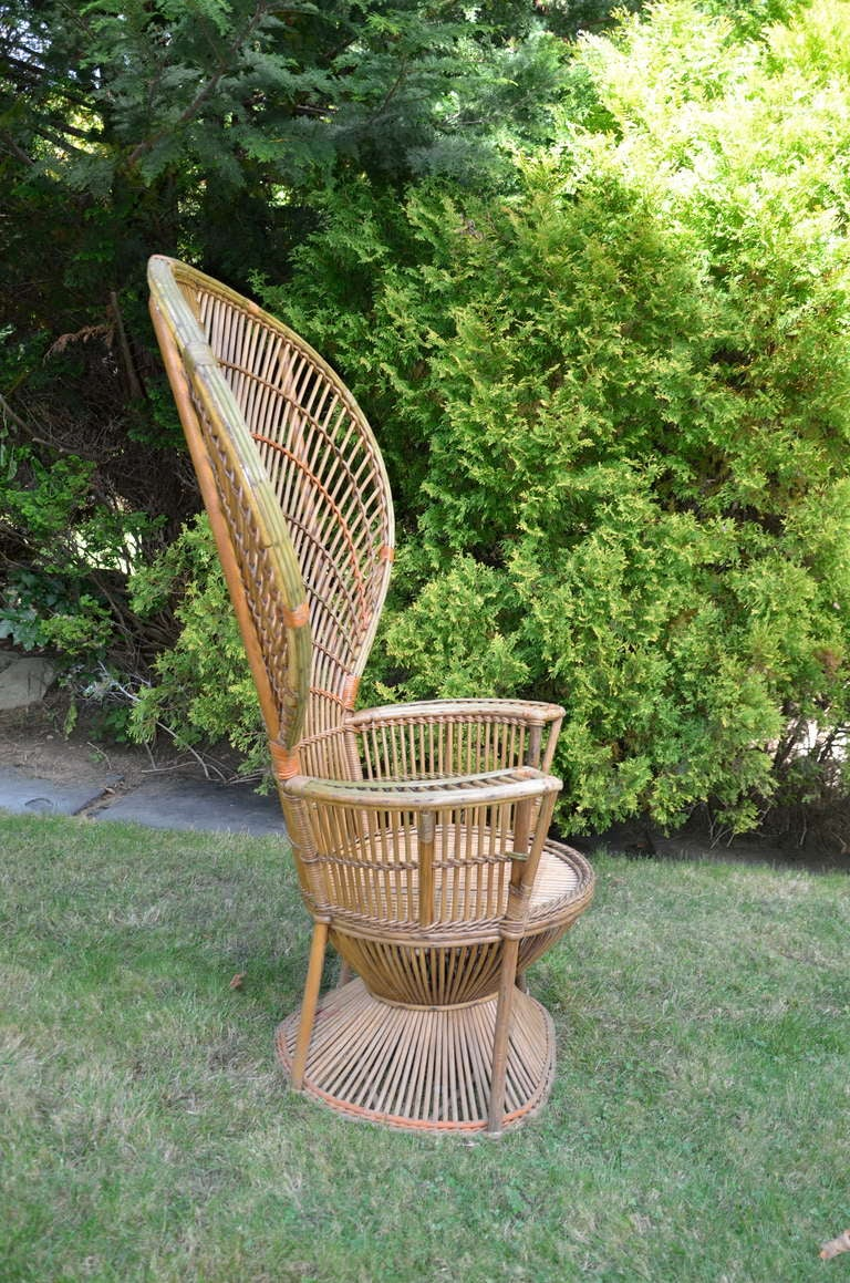 Four Antique Deco Rattan Chairs In Good Condition For Sale In Old Saybrook, CT