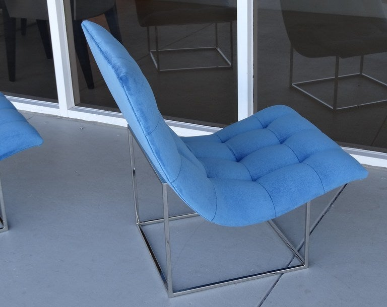 Pair of Milo Baughman Scoop Lounge Chairs image 5