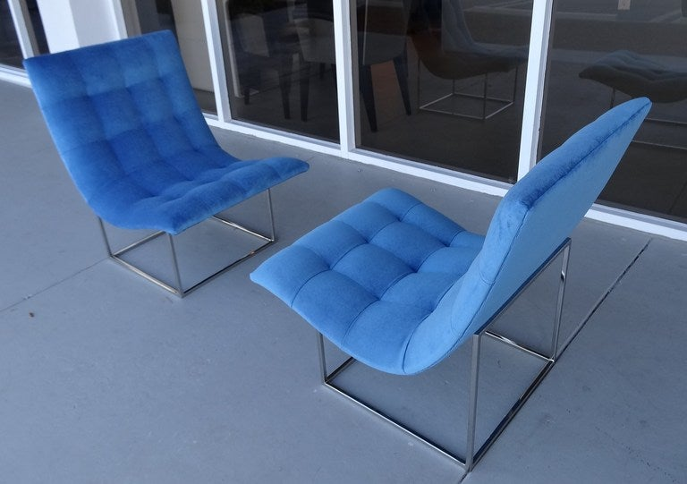 Pair of Milo Baughman Scoop Lounge Chairs image 7