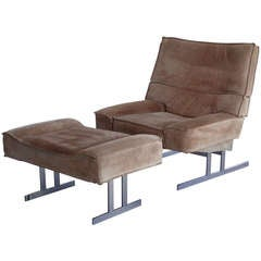 1970s Lounge Chair and Ottoman
