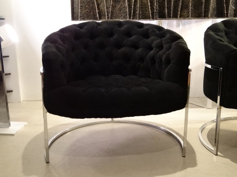 Pair of Milo Baughman Tub Chairs 3