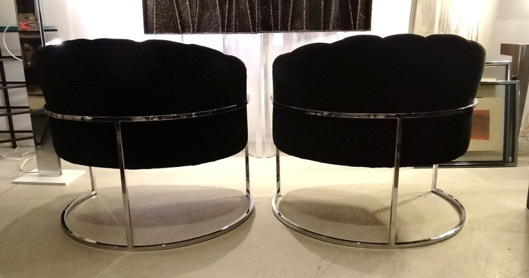 Pair of Milo Baughman Tub Chairs 4