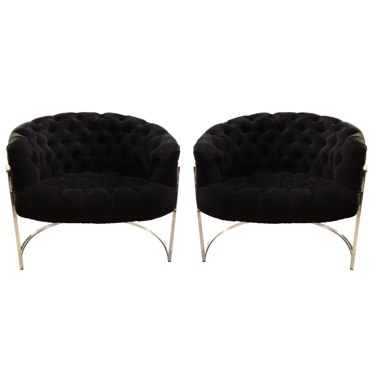 Pair of Milo Baughman Tub Chairs 1