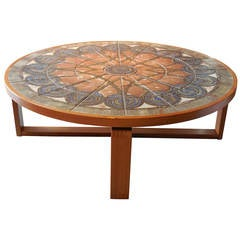 Solid Teak and Art Tile Coffee Table by Oxart, 1976