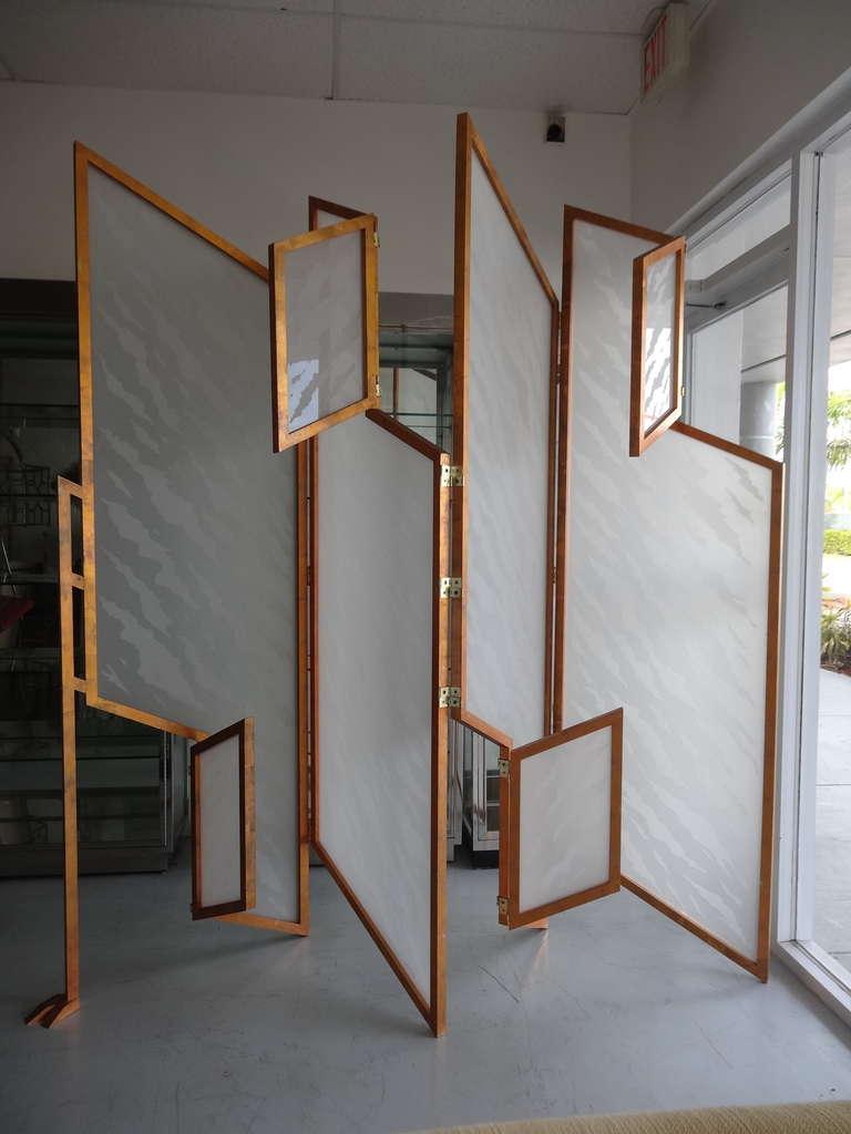 unique kinetic room divider sculptural screen at 1stdibs