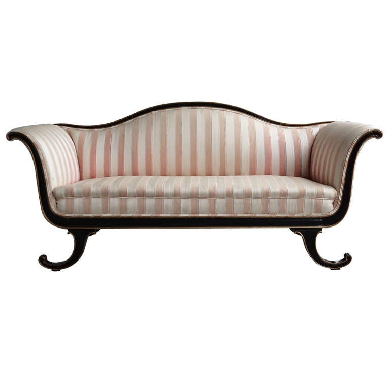 Neoclassical Sofa In The Style Of Dorothy Draper At 1stdibs