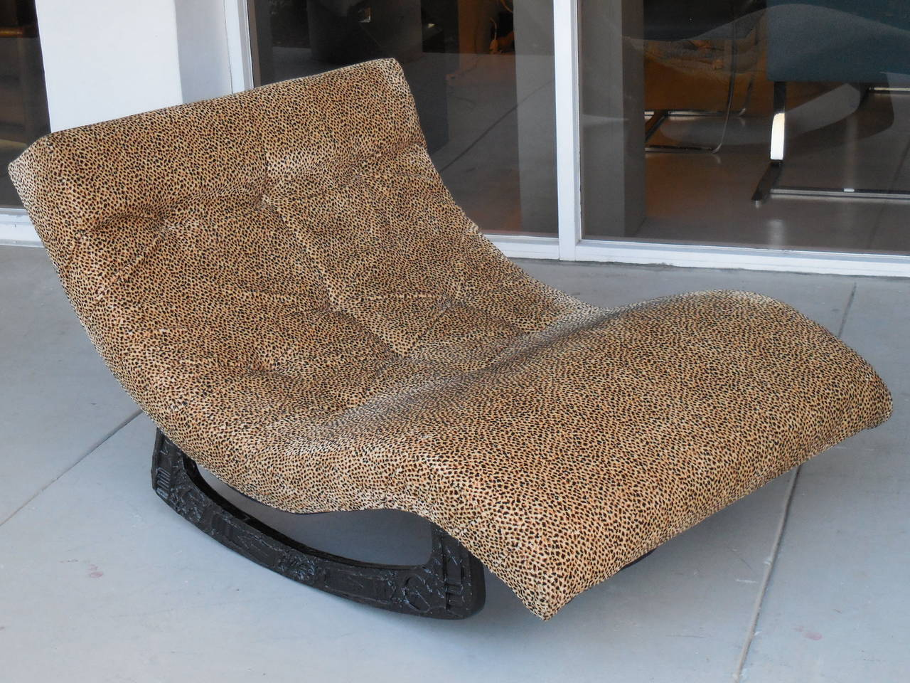 Brutalist adrian pearsall rocking chaise at 1stdibs for Adrian pearsall rocking chaise