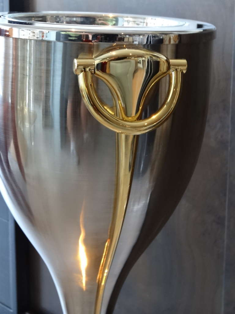 Gucci Caviar Champagne Bucket Stand At 1stdibs