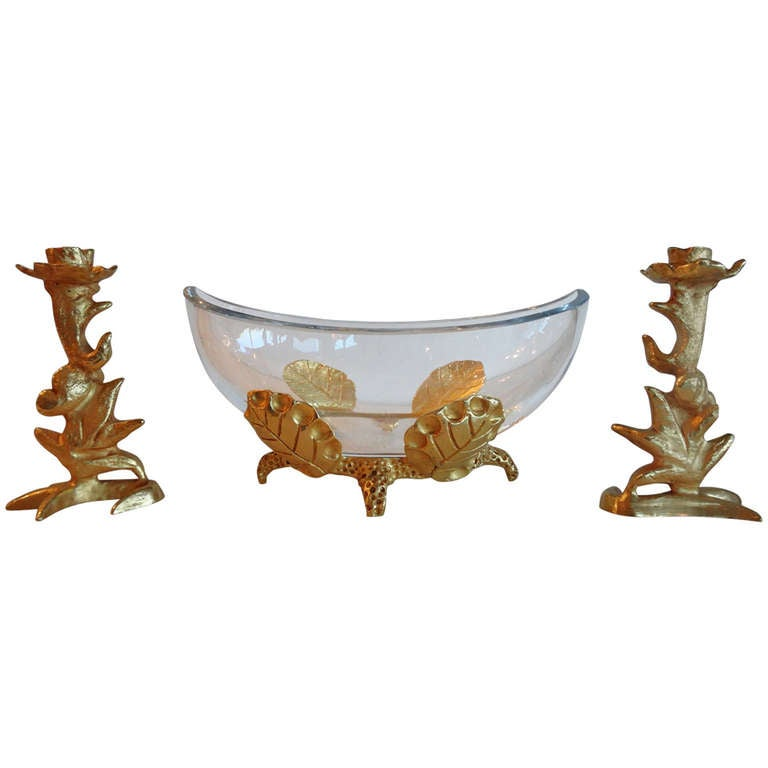 Mathias for Fondica Centerpiece and Candleholders For Sale