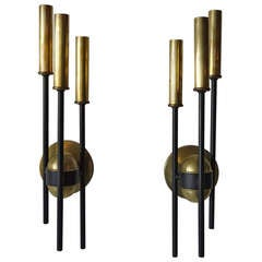 Pair of Modernist French Sconces