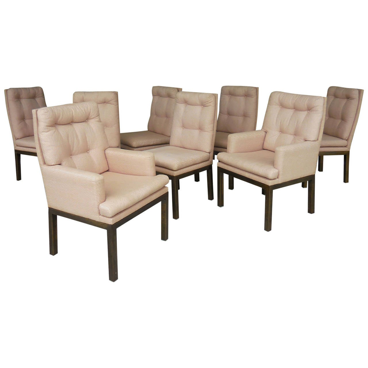 8 Bronze Dining Chairs By Mastercraft At 1stdibs