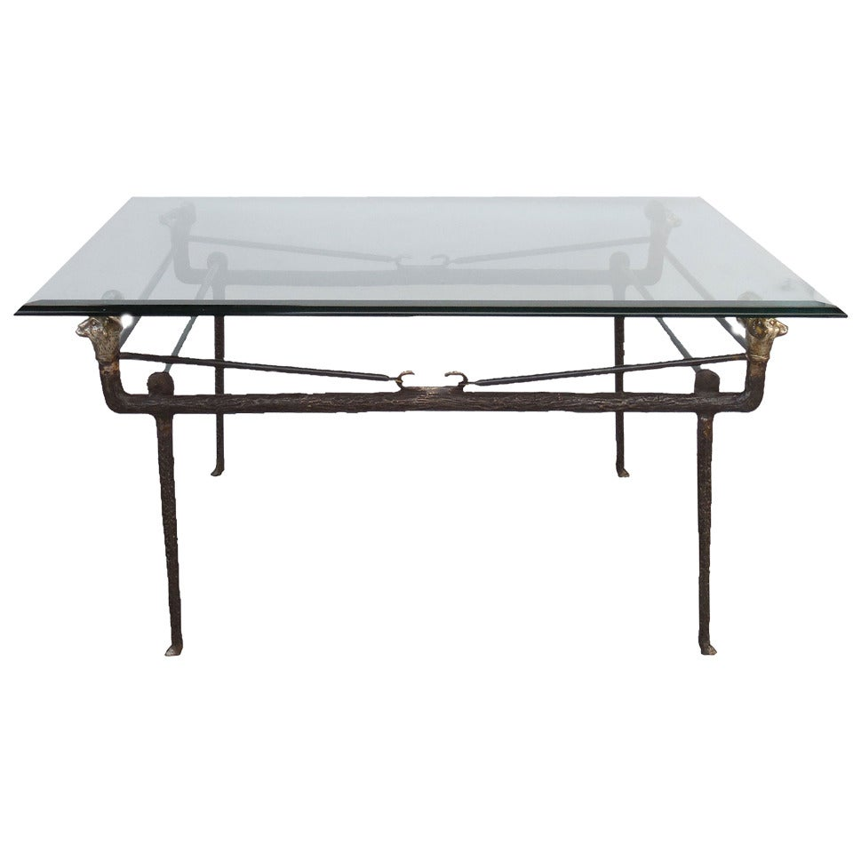 Bronze coffee table in the manner of giacometti at 1stdibs Bronze coffee tables