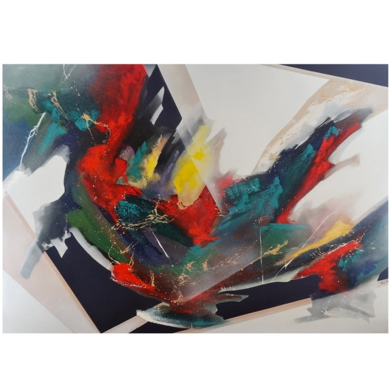 Monumental Abstract Expressionist Painting For Sale