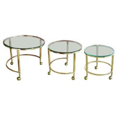 Brass Round Nesting Tables