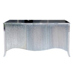 Unique Steel Console with Textured Steel Doors