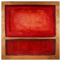 Red and Brown Minimalist Painting