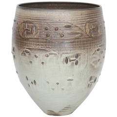 Edwin and Mary Scheier Mid-Century Modern Vase with Figures