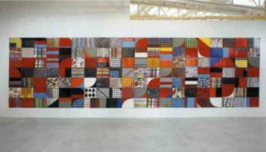 Jun kaneko large wall mural ceramic tiles at 1stdibs for Ceramic mural tiles