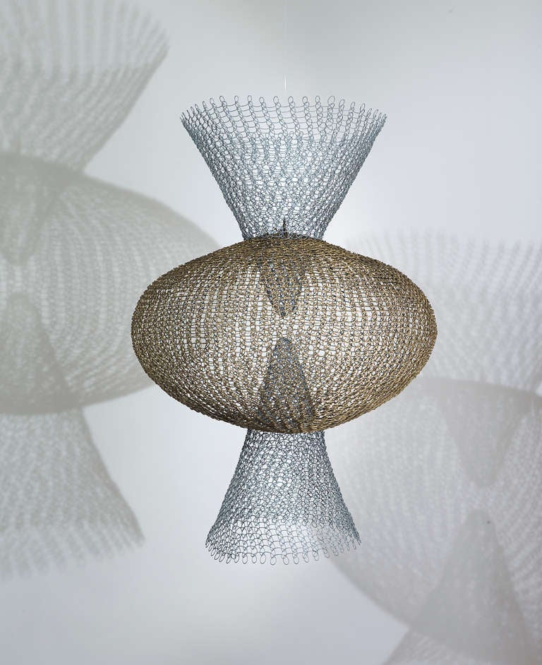 Ruth Asawa - S.562 - Double Cone with Center Sphere. 4
