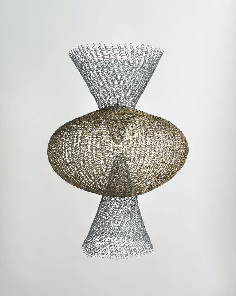 Ruth Asawa - S.562 - Double Cone with Center Sphere. 3