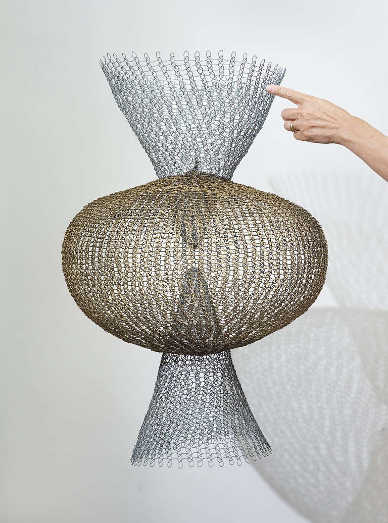 Ruth Asawa - S.562 - Double Cone with Center Sphere. 2