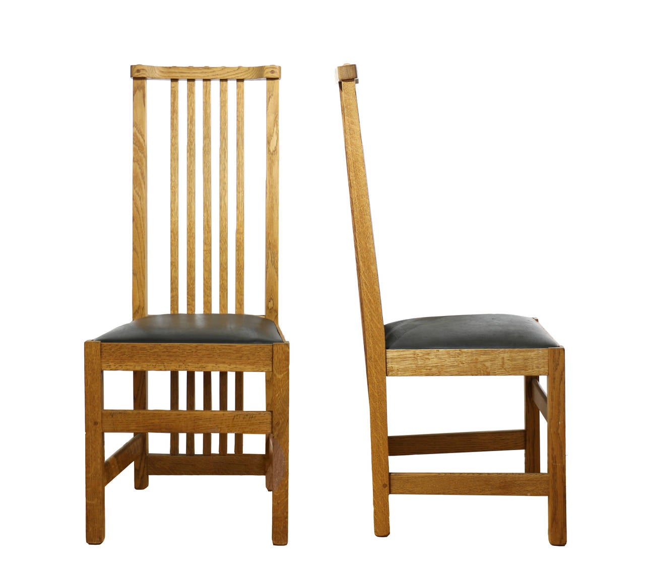 Six arts and crafts handcrafted chairs at 1stdibs - Arts and crafts dining room furniture ...