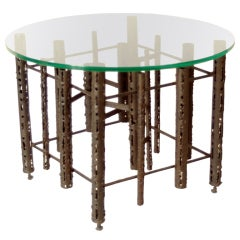 Brutalist Style Coffee Side Occasional Table