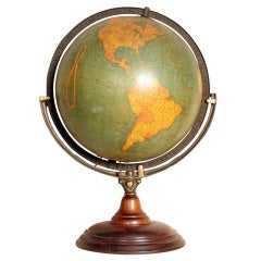 Vintage George F. Cram Lighted Terrestrial Globe