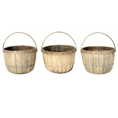 Set of Three Antique Apple Baskets