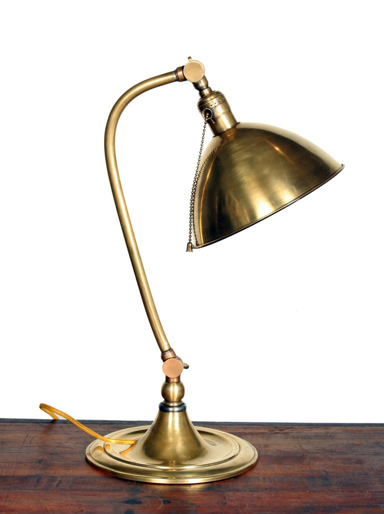 Bradley and Hubbard Brass Pharmacy Table Lamp at 1stdibs