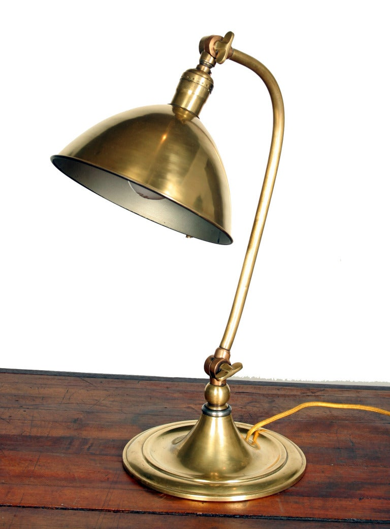 bradley and hubbard brass pharmacy table lamp at 1stdibs. Black Bedroom Furniture Sets. Home Design Ideas