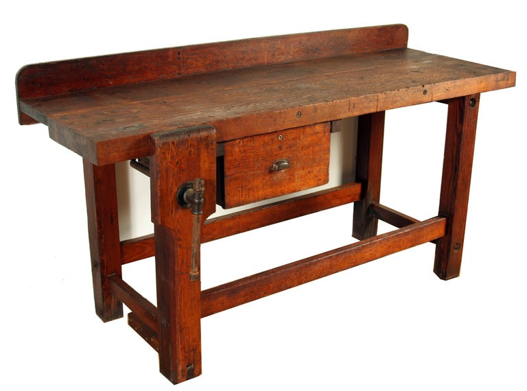 Perfect Antique Vintage Carpenter39s Bench Table At 1stdibs