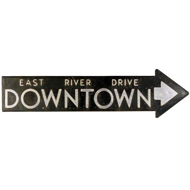 Vintage 1930s Original Fdr Nyc Street Sign At 1stdibs