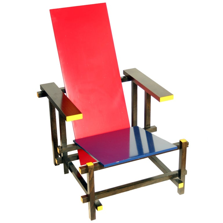 Cassina Edition Of Gerrit Rietveld Chair At 1stdibs