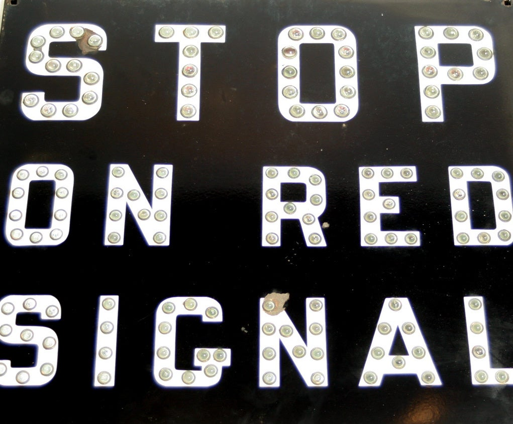 Vintage Reflector Railroad Stop On Red Signal At 1stdibs
