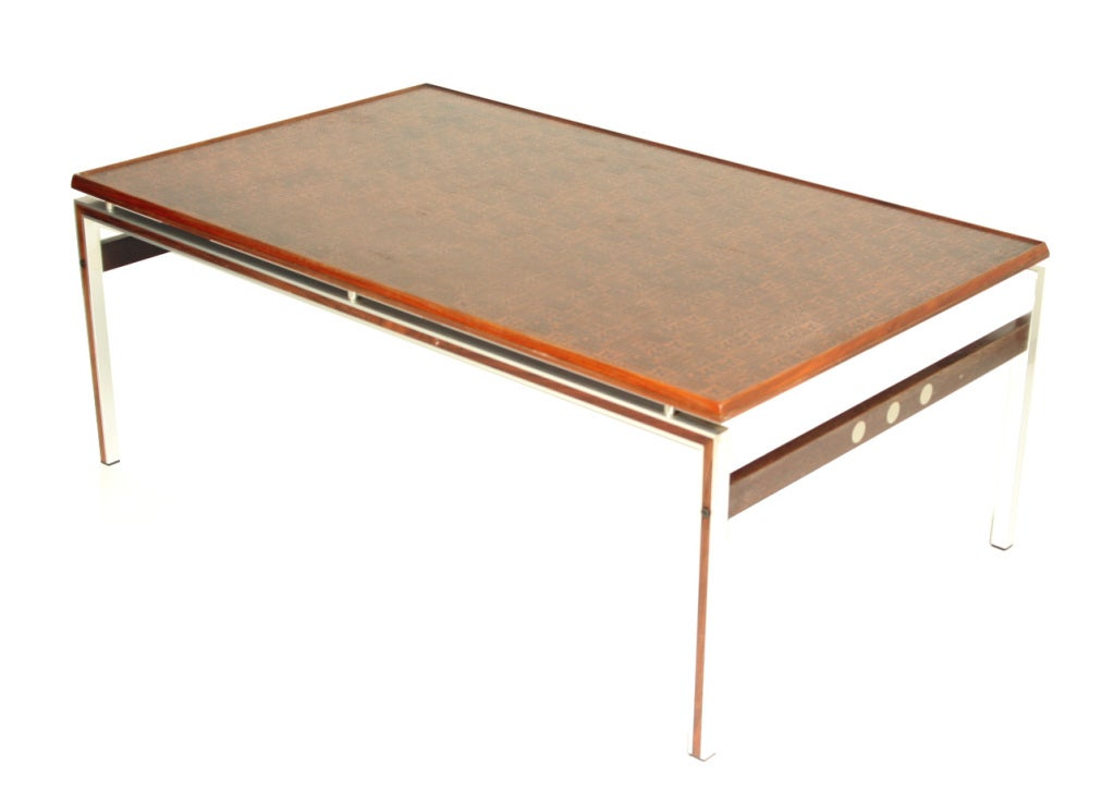 Mid Century Modern Embossed Copper Coffee Table At 1stdibs