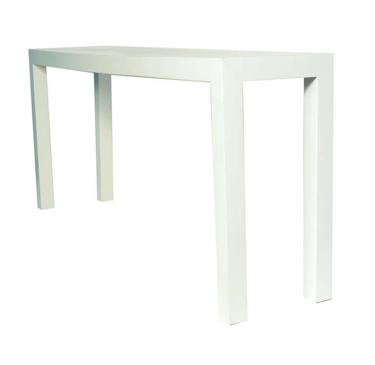 1970s White Lacquer Parsons Table At 1stdibs