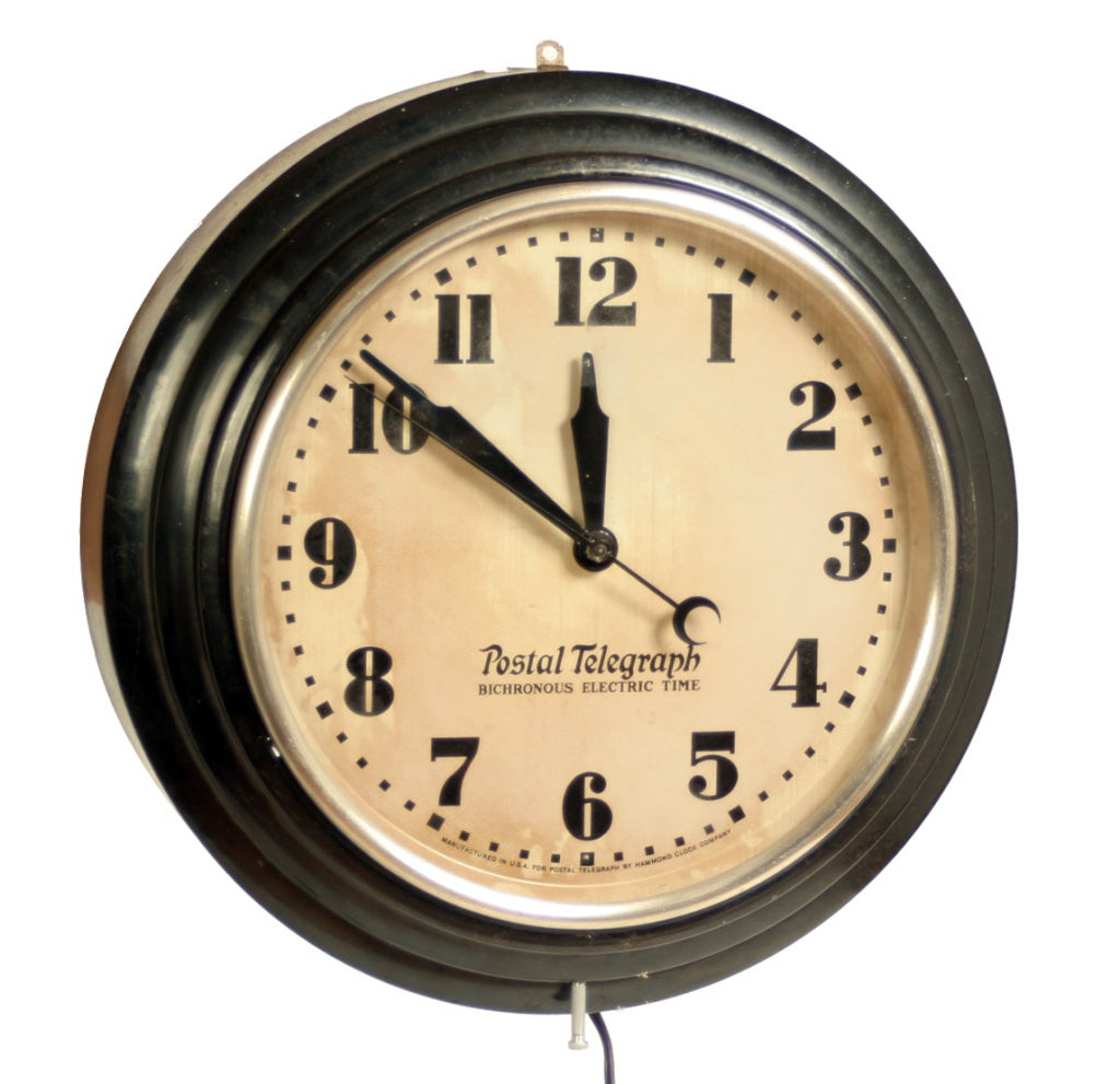 Vintage Hammond Postal Telegraph Wall Clock image 2