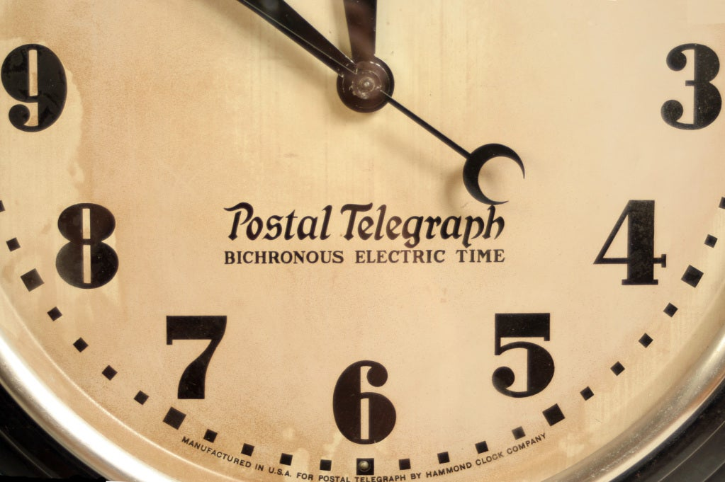 Vintage Hammond Postal Telegraph Wall Clock image 3