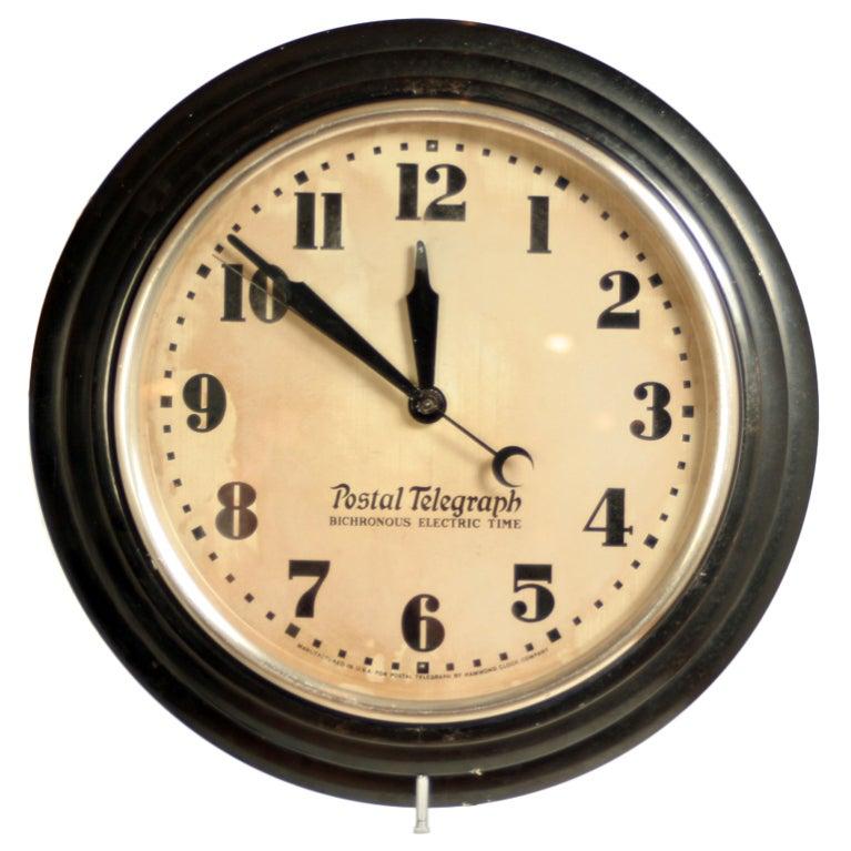 Vintage Hammond Postal Telegraph Wall Clock