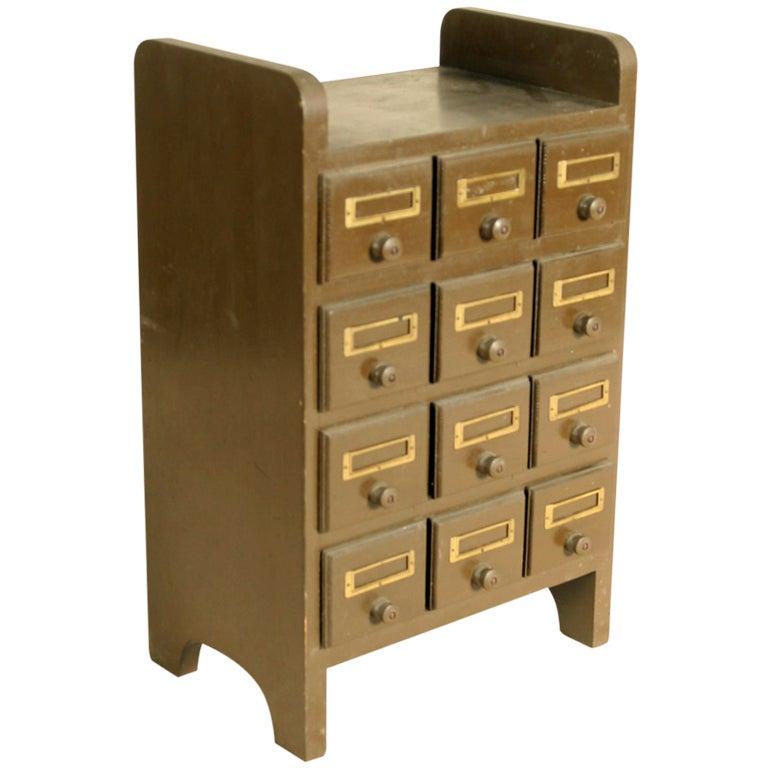12 Drawer Tabletop Or Desktop Storage At 1stdibs