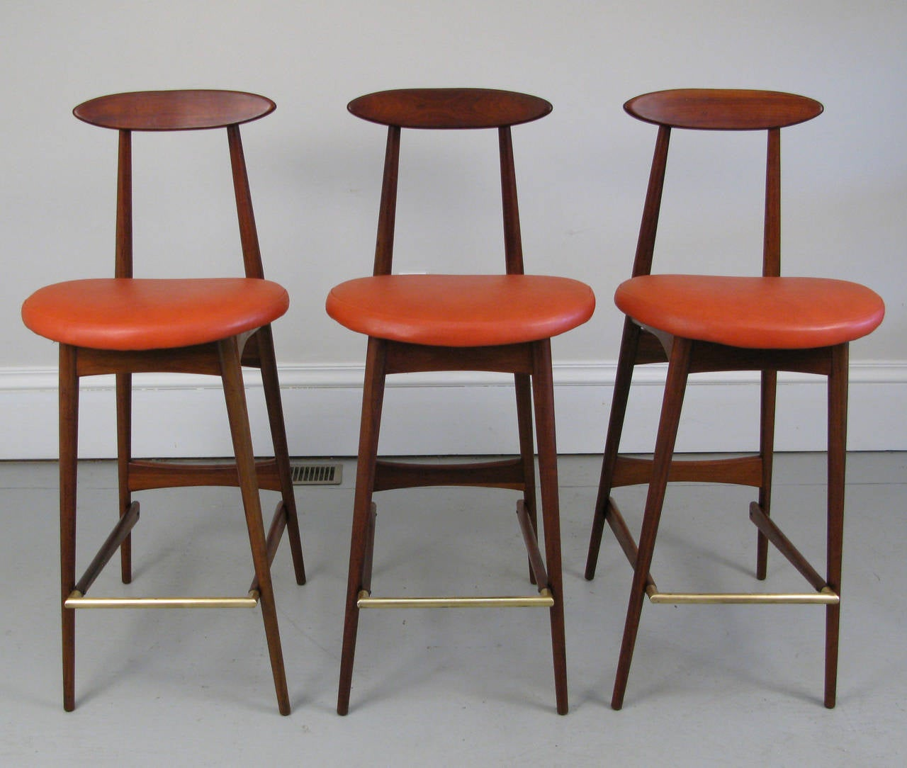three midcentury bar stools by adrian pearsall at stdibs - three midcentury bar stools by adrian pearsall